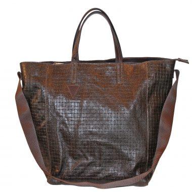 borsa a sacco testa moro ottone antico sac bag basket dark brown antique brass