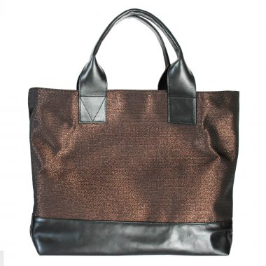 borsa a spalla tote bag farida rame copper