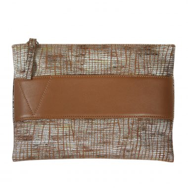 borsetta pelle bubba marrone leather clutch bag