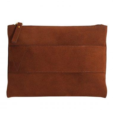 pochette borsetta clutch camoscio