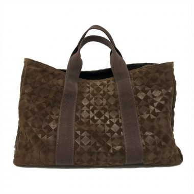 borsa a mano handbag art22 dark brown V22 stampa 3d