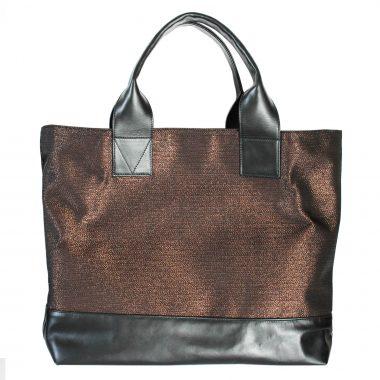 borsa a spalla tote bag farida rame copper