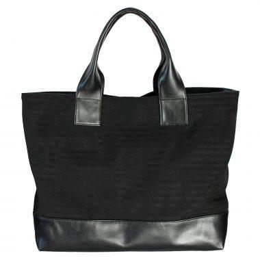 borsa a spalla tote bag farida total black
