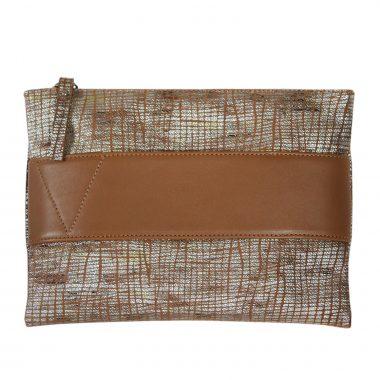 borsetta pelle bubba marrone leather clutch bag