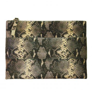 pochette borsetta a mano clutch snakeG in pelle animalier