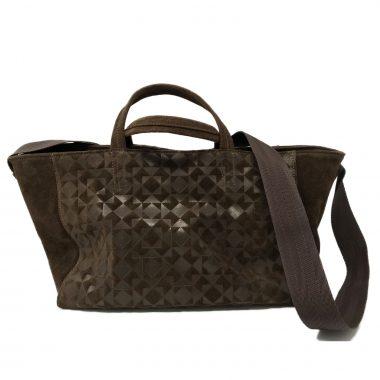 borsa a mano handbag v9 mini stampa 3d dark brown