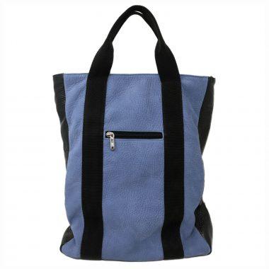zaino in pelle leather backpack v23 black bicolor