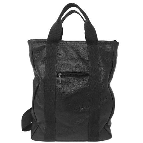 zaino in pelle leather backpack v23 black