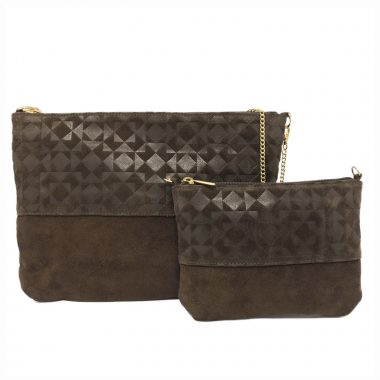 borsa tracolla shoulder bag art 16TR10/20 V16 3D testa di moro dark brown