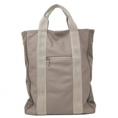 zaino in pelle leather backpack v23 tortora dove